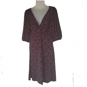Max Edition Cranberry Black White Dress Medium